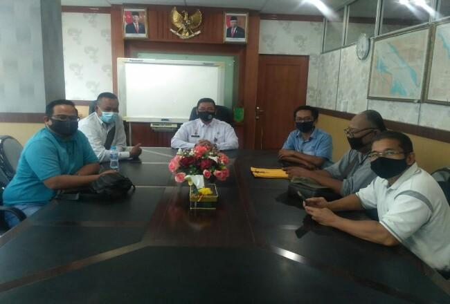 Pj Bupati Bengkalis Syahrial Abdi bersama sejumlah Kepala OPD.