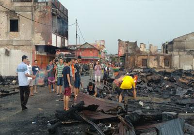 Total Kerugian Kebakaran Kampung Cina Siak Capai Rp15 Miliar