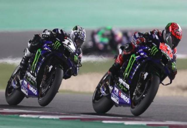 Fabio Quartararo menang MotoGP Doha 2021. Foto: CNNIndonesia
