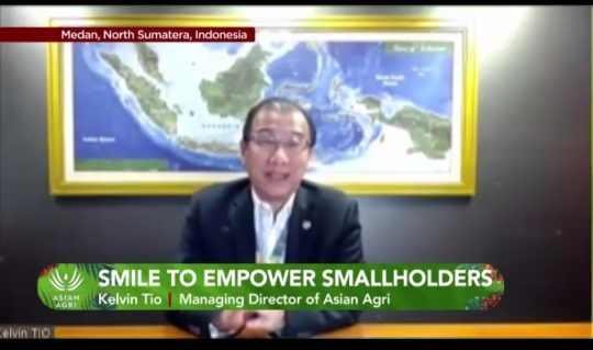 Managing Director of Asian Agri, Kelvin Tio