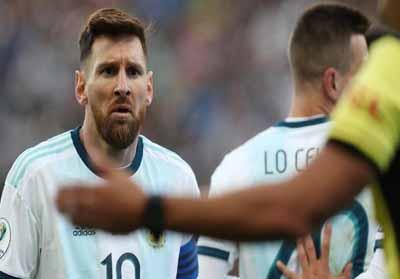 Lionel Messi dilarang bermain selama tiga bulan.