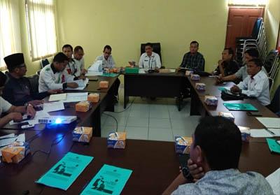 Posbakumdin menyampaikan visi dan misinya di Kantor Kesbangpol Pelalawan, Rabu (25/9/2019).