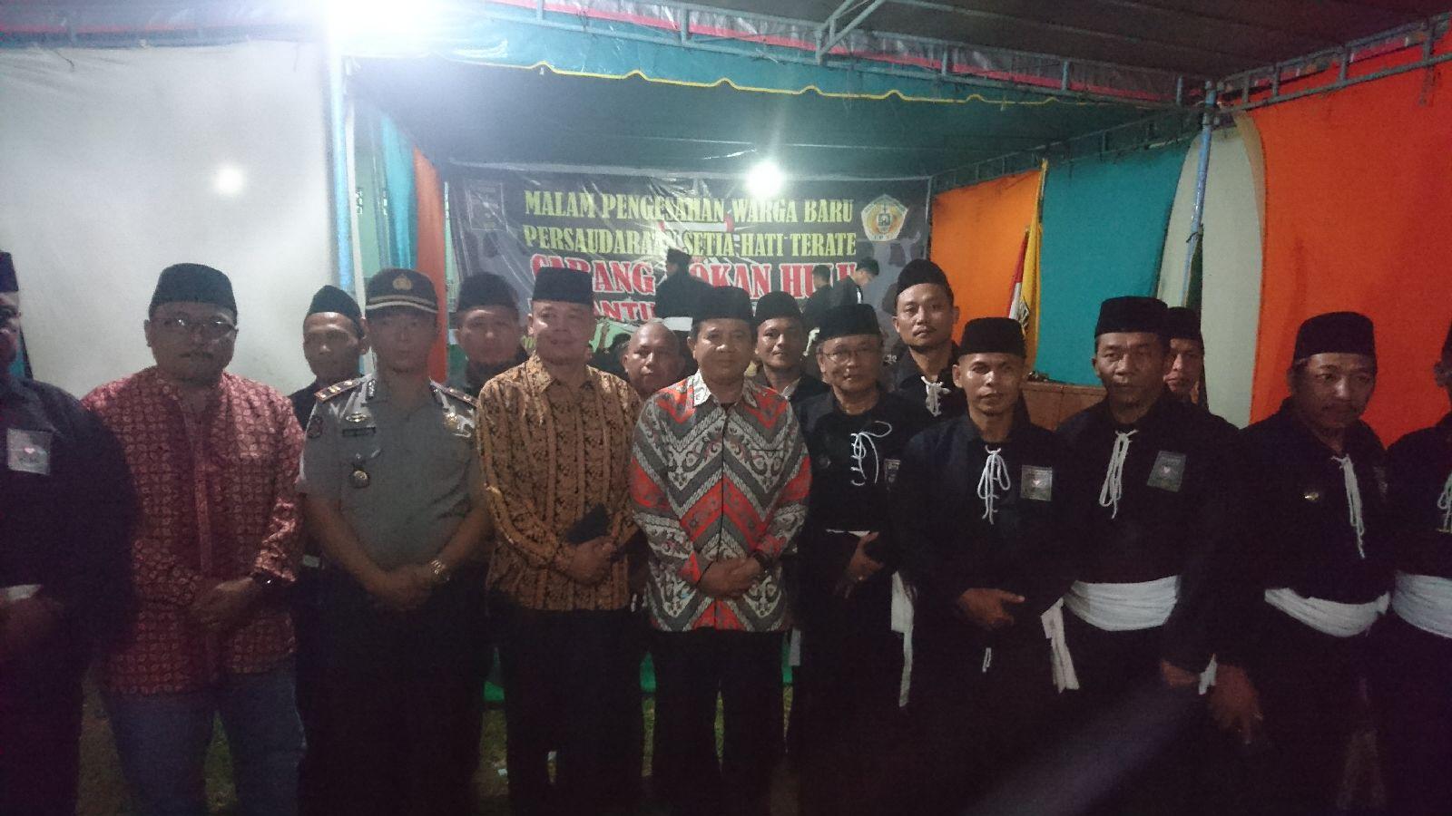 Pj Sekda Rohul hadiri pengesahan warga baru PSHT.