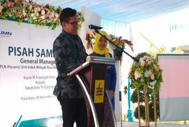 General Manager Unit Induk Wilayah Riau dan Kepri (UIWRKR), yang baru, Daru Tri Tjahjono. Foto: Tribunpekanbaru