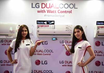 AC LG DUALCOOL with Watt Control dikembangkan dengan fleksibilitas pengaturan daya listrik (watt) melalui fitur Watt Control.