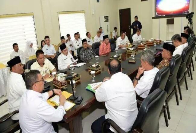 Rapat terakhir persiapan MTQ tingkat Provinsi Riau, digelar di rumah dinas Wagubri di Pekanbaru, Rabu (20/11).Foto: Tribunpekanbaru