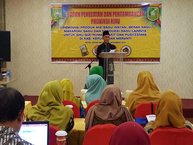 Diseminasi produk sagu ini juga merupakan upaya Pemerintah Provinsi Riau untuk mempercepat peningkatan nilai tambah sagu.