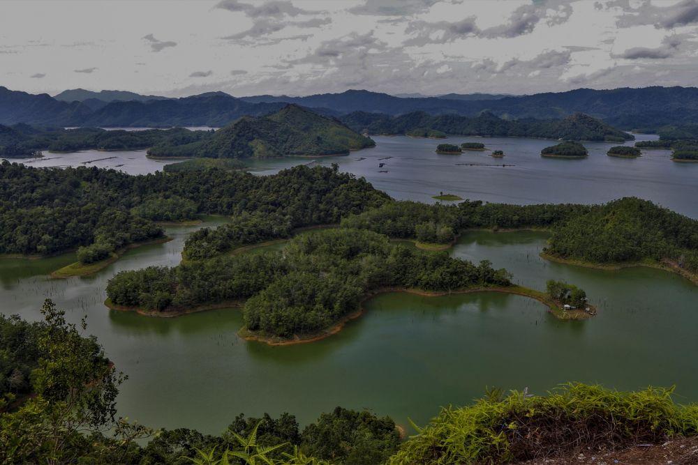 Danau PLTA Koto Panjang Kabupaten Kampar Riau. FOTO: mediacenterriau