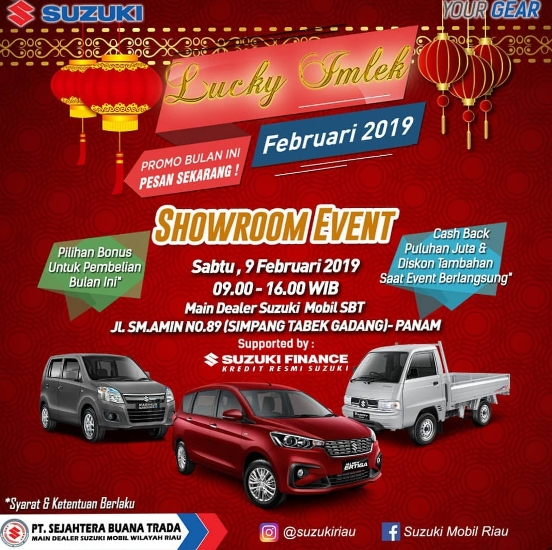 Ilustrasi showroom event Suzuki SBT