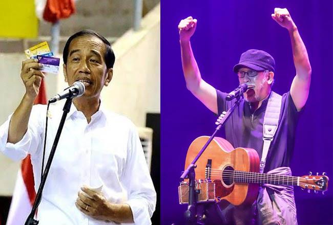 Kolase Jokowi dan Iwan Fals.