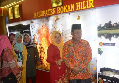 Wakil Bupati (Wabup) Rokan Hilir (Rohil), Drs H Jamiludin menghadiri acara pembukaan Riau Ekspo 2019 di Pekanbaru