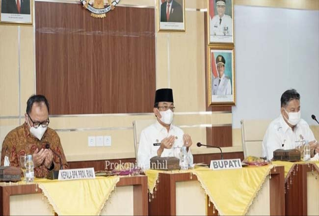 Bupati Inhil silahturami dengan BPK RI Perwakilan Provinsi Riau di Kabupaten Inhil.