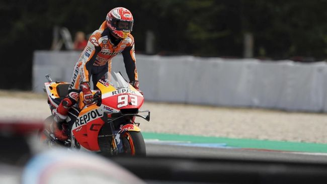 Marc Marquez mengantisipasi Sirkuit Red Bull Ring yang akan menjadi venue MotoGP Austria. (AP Photo/Petr David Josek)