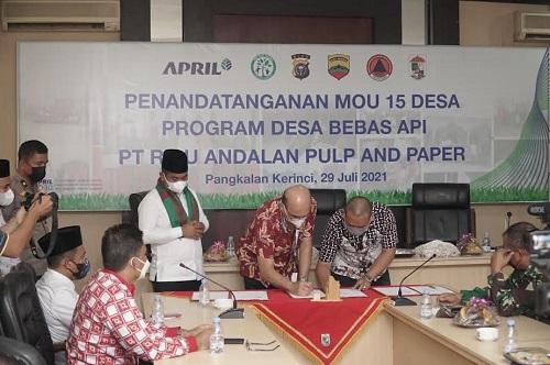Bupati Pelalawan apresiasi Program Desa Bebas Api PT RAPP