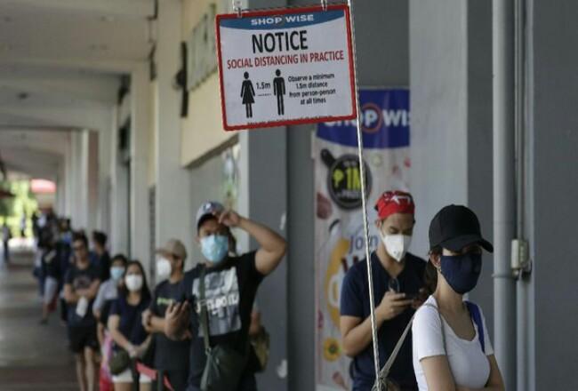 Filipina menjadi negara tertinggi kasus Corona di Asia Tenggara. Foto: CNNIndonesia