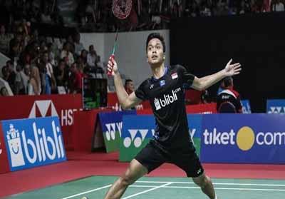 Anthony Sinisuka Ginting kalah di 16 besar Indonesia Open 2019.