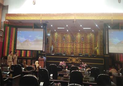 Gladi bersih pelantikan pimpinan DPRD Pekanbaru defenitif masa jabatan 2019-2024.