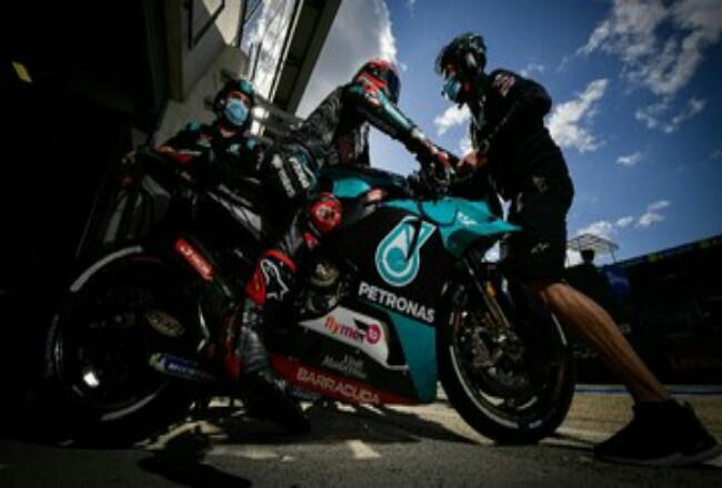 Quartararo masih khawatir meski meraih pole position MotoGP Aragon. Foto: CNNIndonesia