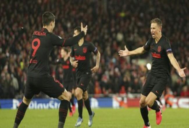 Atletico Madrid menyingkirkan Liverpool di Liga Champions.