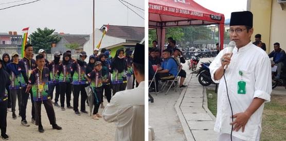 Ketua Harian FOPI Pekanbaru Syafriadi membuka Kejuaraan Porkot Pekanbaru VII Cabang Petanque di Kampus UIR, Kamis siang (4/9)