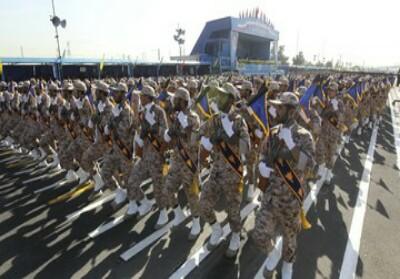 Ilustrasi Korps Garda Revolusi Iran.