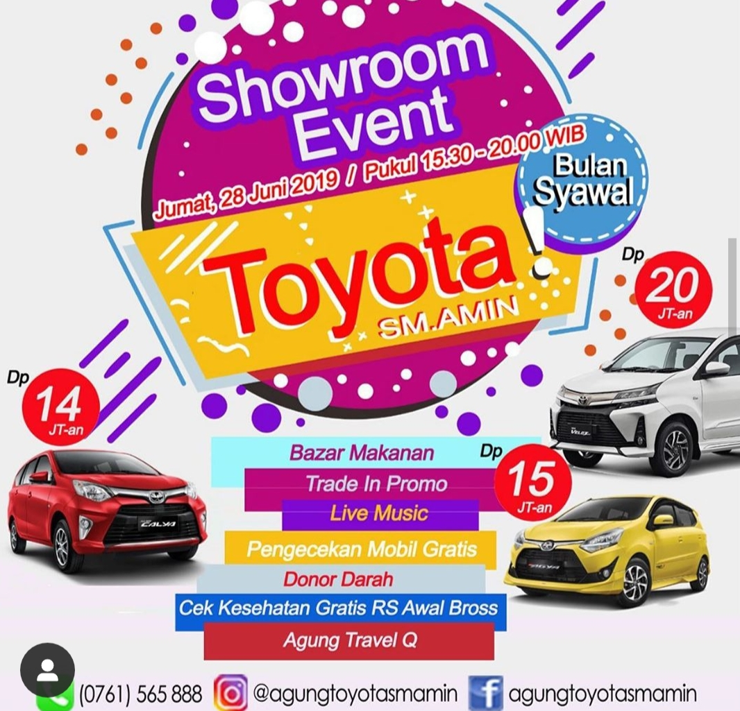 Showroom Event Agung Toyota SM Amin
