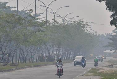 Asap Karhutla di Pekanbaru, Riau. FOTO: Wahyudi