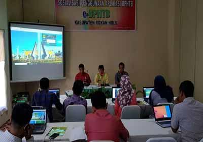 Bapenda Rohul sosialisasikan Aplikasi e-BPHTB ke Notaris & PPAT, Bank Riau Kepri Menyusul.