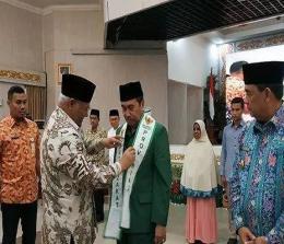 Gubernur Riau Syamsuar saat menghadiri rapat koordinasi zakat dan iftitah gerakan masyarakat riau berzakat di Gedung Daerah Jalan Diponegoro Pekanbaru, Kamis (23/5/2019).