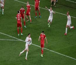 Denmark lolos dramatis ke babak 16 Euro 2020. Foto: Detik