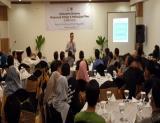Sukamto Tamrin, GM Government Affairs & Operations Support CPI, memaparkan tentang profil operasi Chevron di Indonesia dalam acara buka puasa bersama Hipemari.