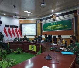 Danrem 031/Wirabima pimpin rakor pemulangan ribuan pekerja migran Indonesia dari Malaysia.