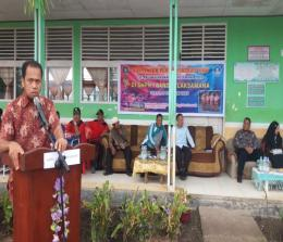 Kepala Bidang Pembinaan SMP Syafrizal saat memberikan pengarahan.