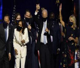 Joe Biden-Kamala Harris Rayakan Kemenangan Pilpres AS 2020. FOTO: REUTERS.