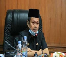 Pjs Bupati Rohul Masrul Kasmy, pimpin Rakor dengan pengurus BAZNas Rohul, dslam upaya optimalkan penerimaan zakat di Rohul.