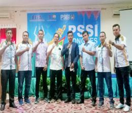 Budiman Lubis terpilih sebagai Ketua PSSI Rohul secara aklamasi.