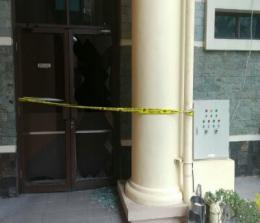 Fasilitas di Gedung DPRD Riau yang rusak. Foto: Antarariau