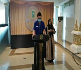 dr Indra Yovi saat coferensi pers.