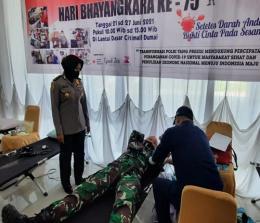 Sempena hari Bhayangkara ke-75 Tahun 2021, Polres Dumai menggelar kegiatan donor darah di Citimall.