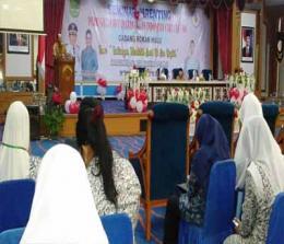 Suasana peringatan HUT ke 68 IBI yang digelar di Convention Hall Islamic Centre Rohul.