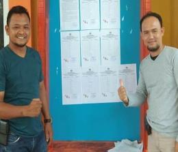 Ketua KPU Kepulauan Meranti, Abu Hamid SPd, dan Kordiv Parmas dan SDM KPU Kepulauan Meranti, Hanafi SSos.